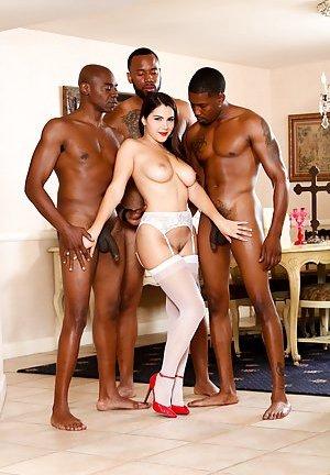 Free Interracial Gangbang Porn